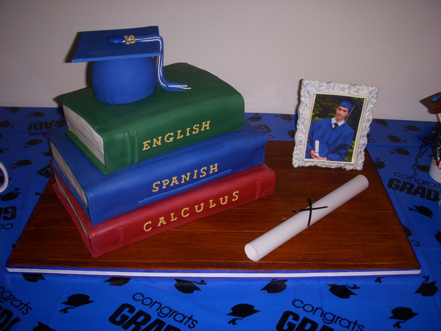 Grandsons Graduation Cake on Cake Central