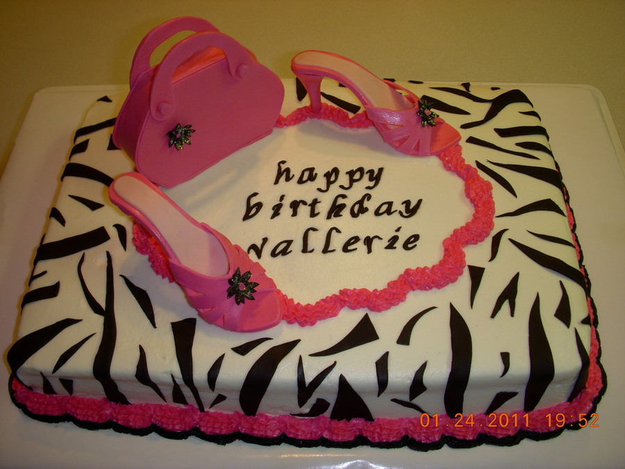 High Heels And Purse Cake on Cake Central