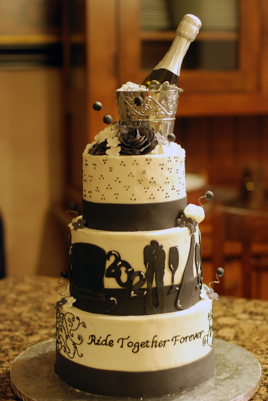 New Years Eve Wedding Cake Cakecentral Com