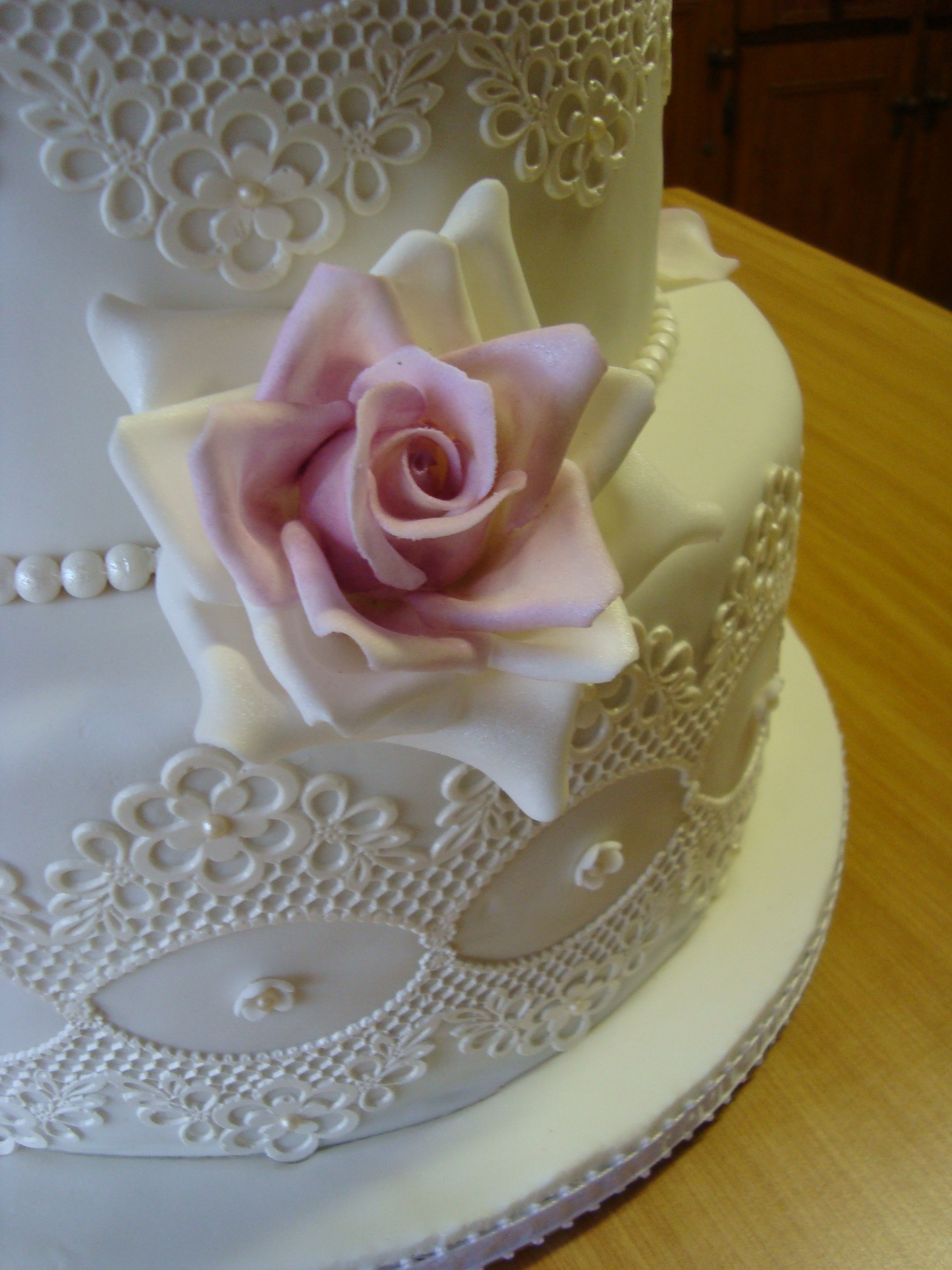 Chocolate Cake With Ganache Undercoat White Fondant Icing