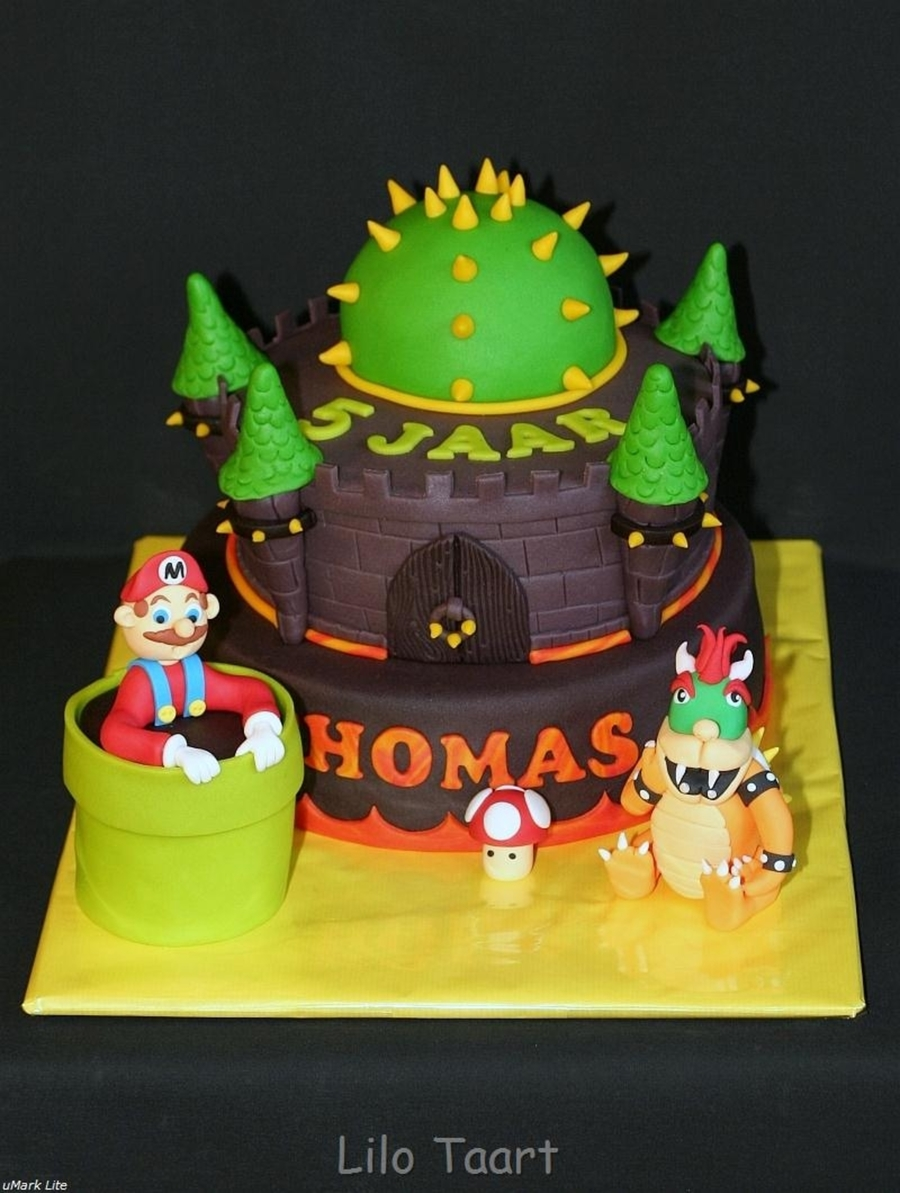 Bowser And Mario CakeCentralcom - Bowser birthday cake