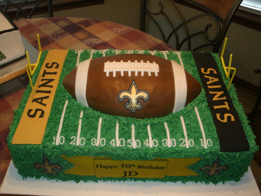 New Orleans Saints Football Cake Cakecentral Com