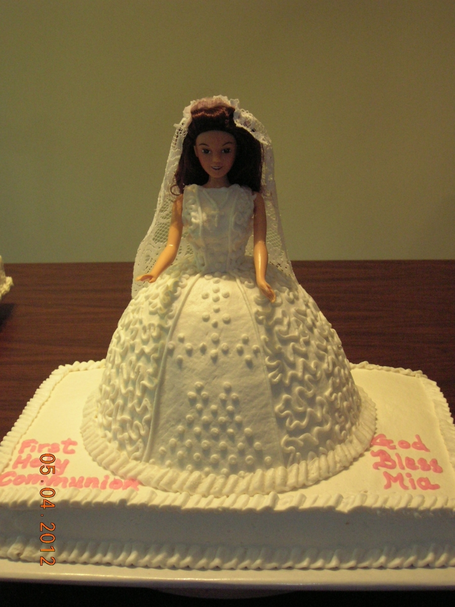 Doll First Communion Cake on Cake Central