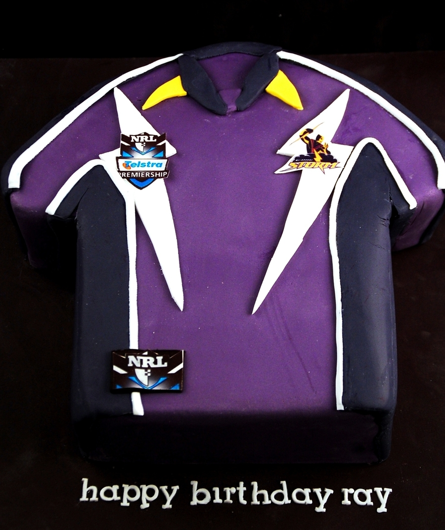 Melbourne Storm Jersey Cake on Cake Central