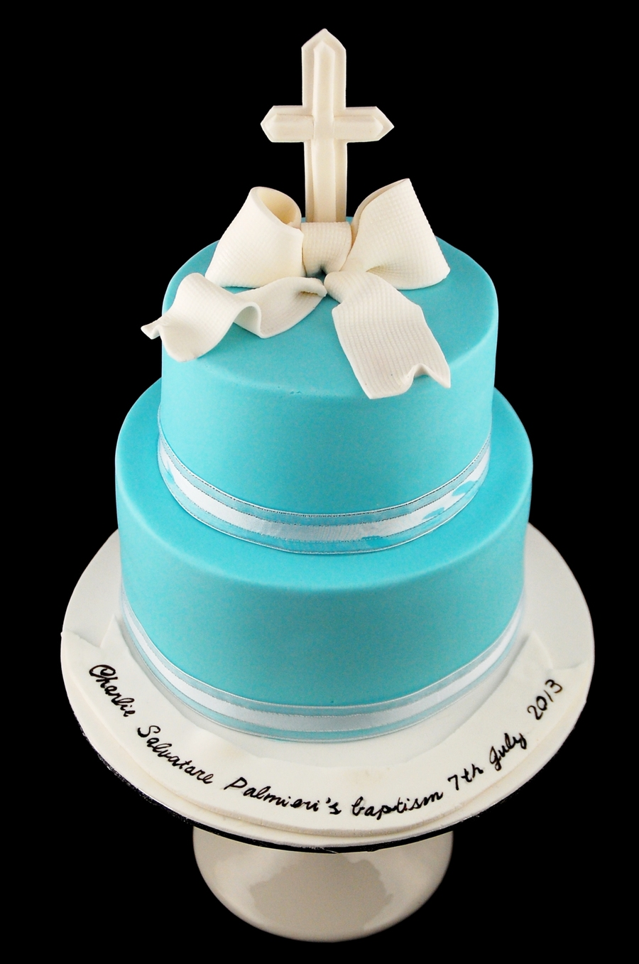 Cake Decorations For Christening Cake : Simple Christening Baptism Cake For A Baby Boy ...