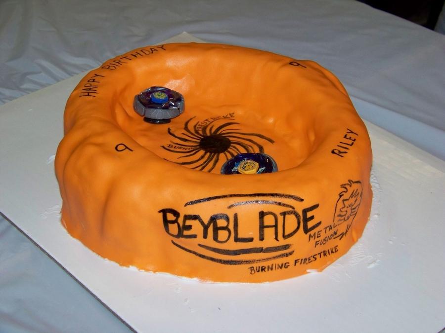 Beyblade Stadium Cake Cakecentral Com