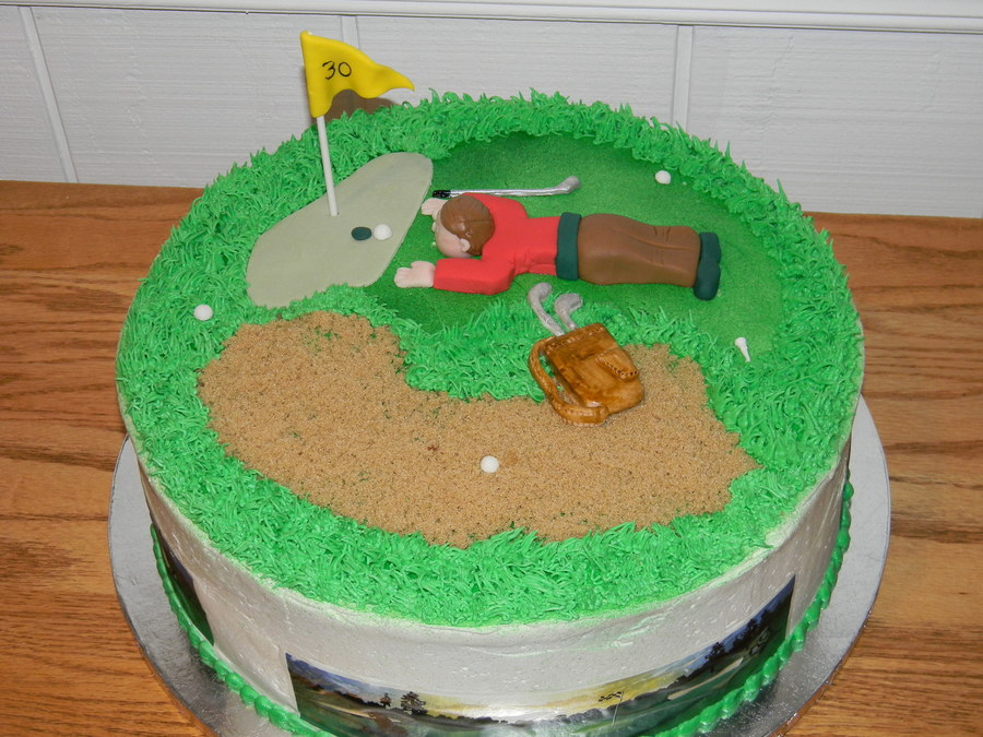 Golf Birthday Cake:). on Cake Central