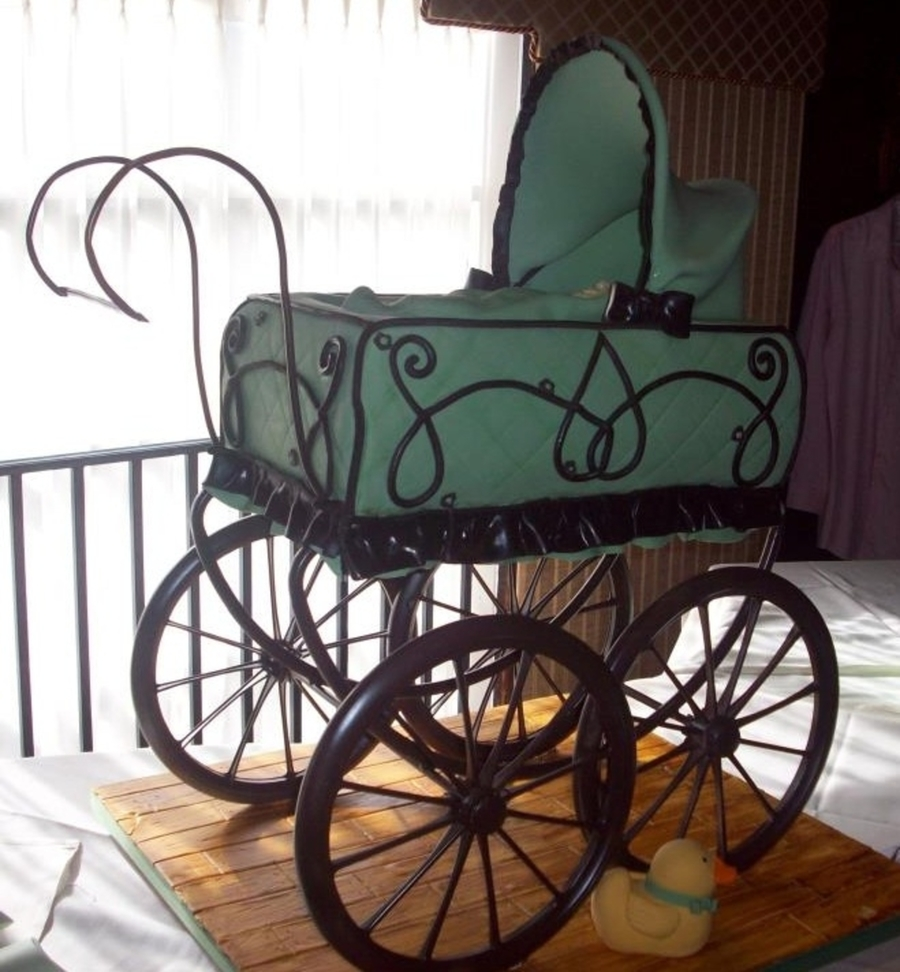 Vintage Baby Carriage Cake on Cake Central