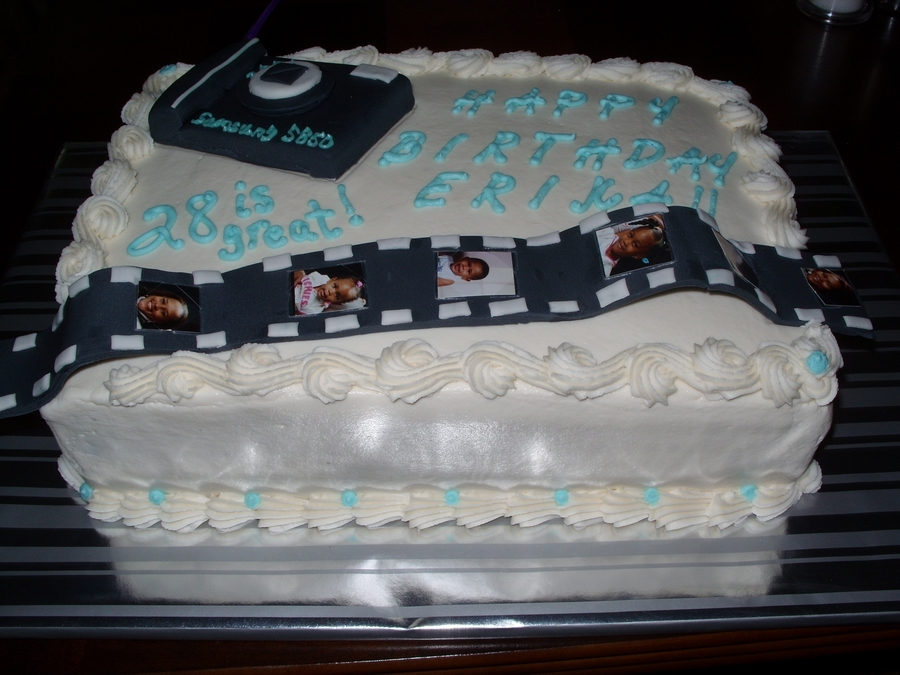 Camera And Film Slide Birthday Cake on Cake Central