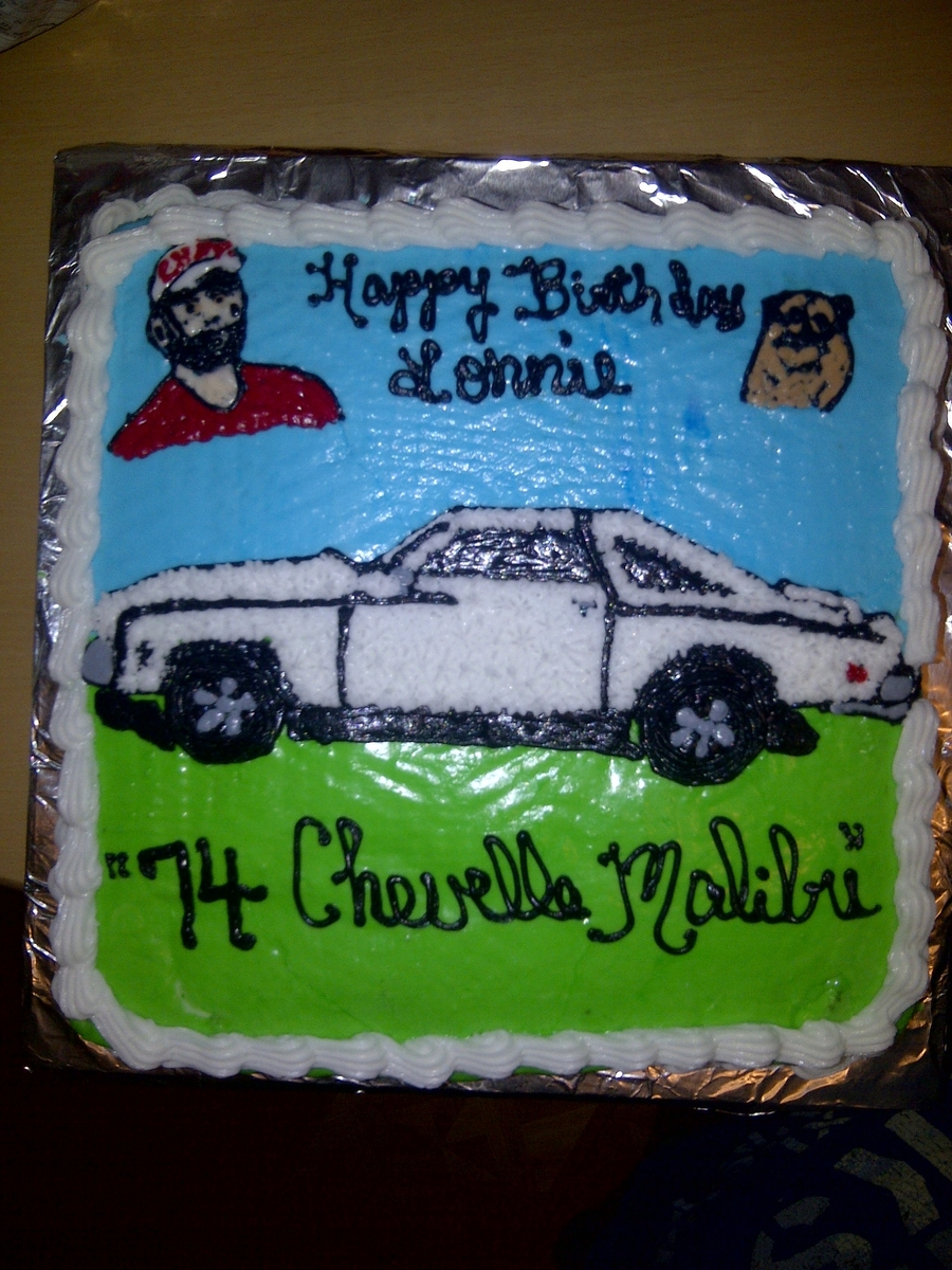 For My Husband . His Car And His Dog on Cake Central