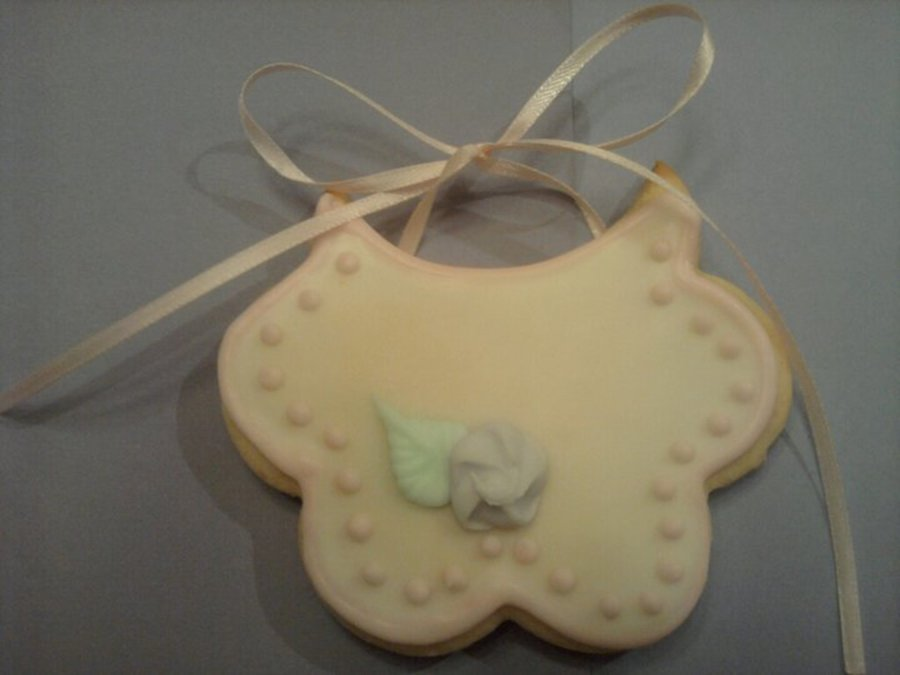 Baby Bib Cookies  on Cake Central