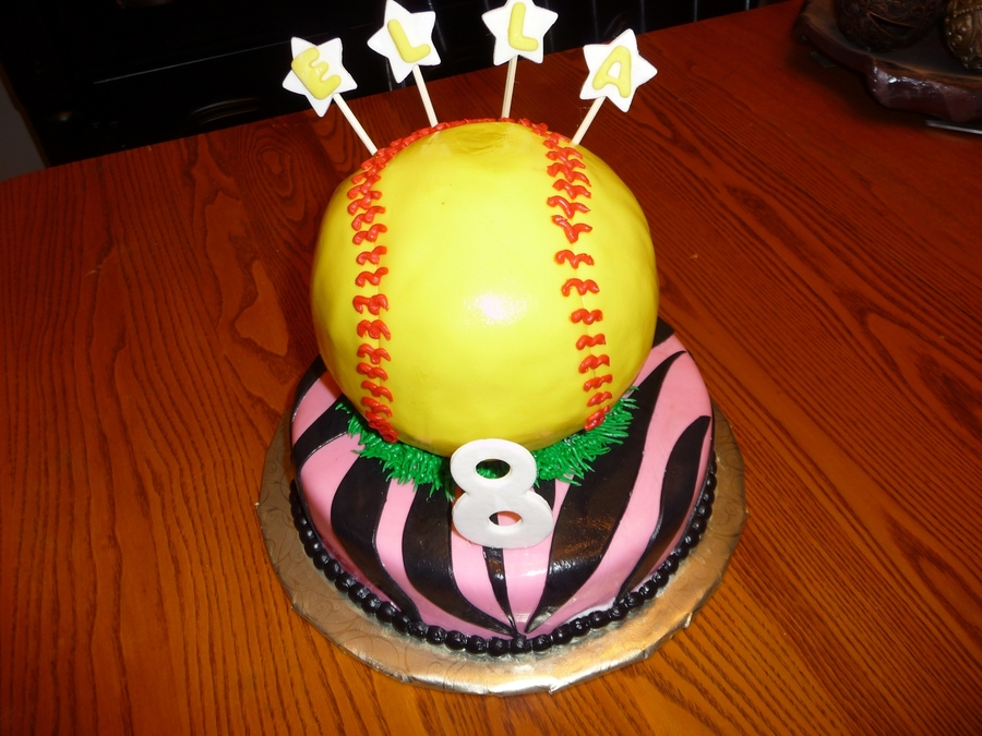 Softball Cake  on Cake Central