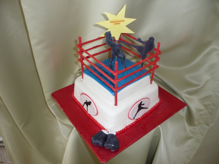 Kick Boxing Cake on Cake Central