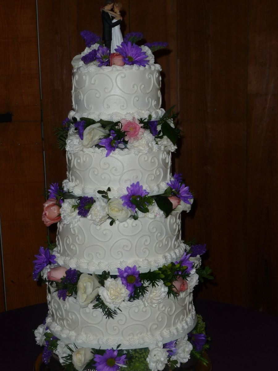 Ariana's Wedding Cake on Cake Central