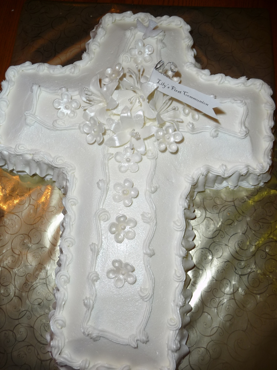Cross Cake/first Communion on Cake Central