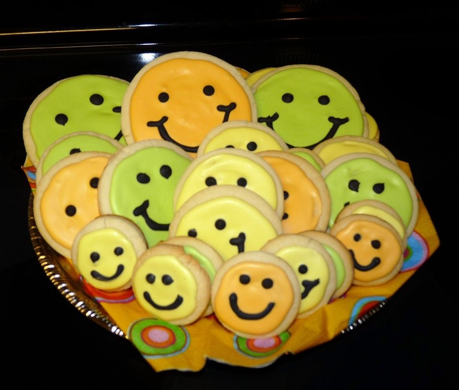 Happy Face Cookies on Cake Central