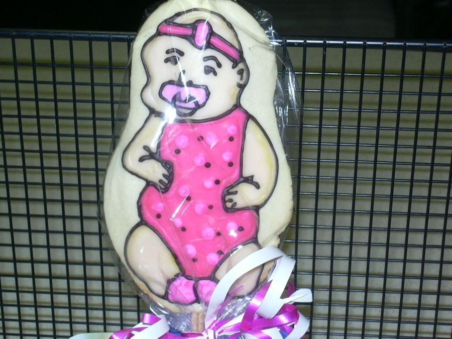 Baby Girl Cookie on Cake Central