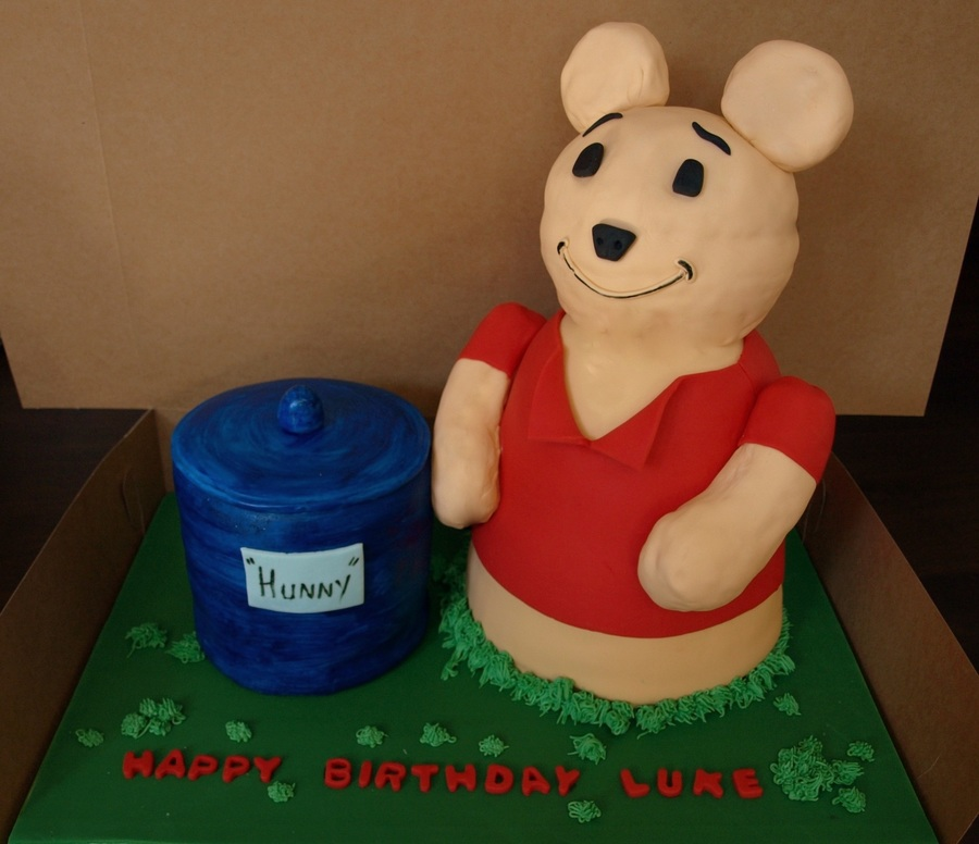 3D Bear And Honey Pot on Cake Central