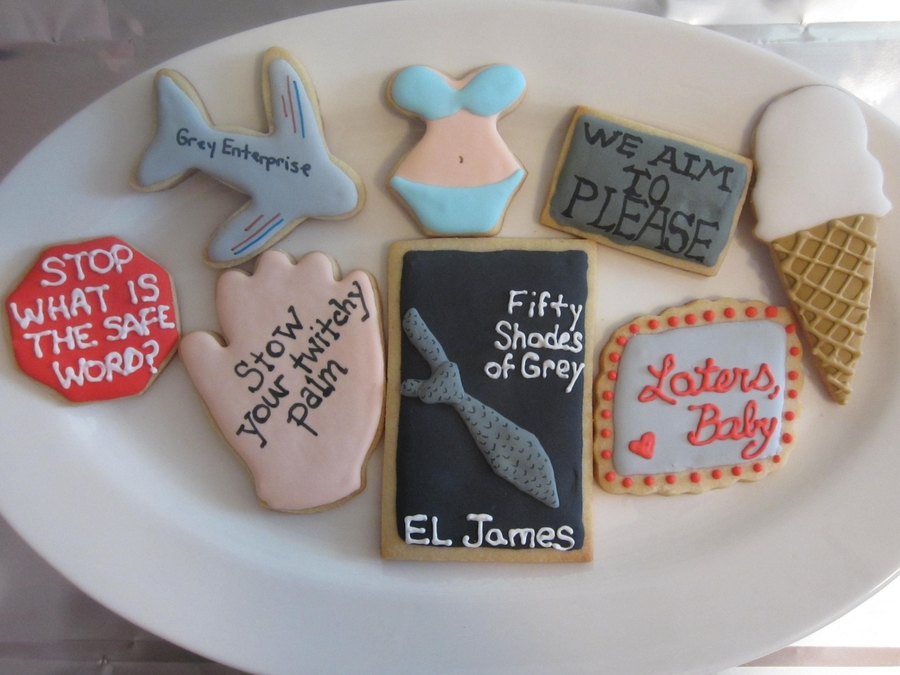 50 Shades Of Grey Cookies on Cake Central