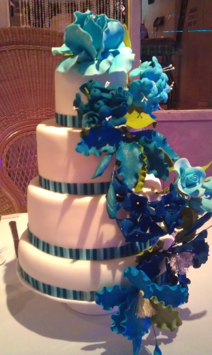 Teal Flowers on Cake Central