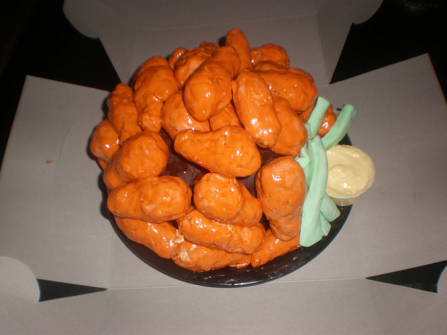 Buffalo Chicken Wing Cake on Cake Central
