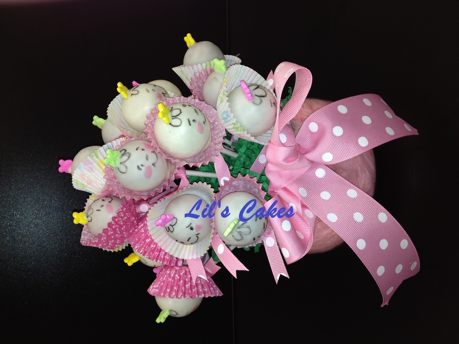Baby Cake Pop Bouquet - CakeCentral.com