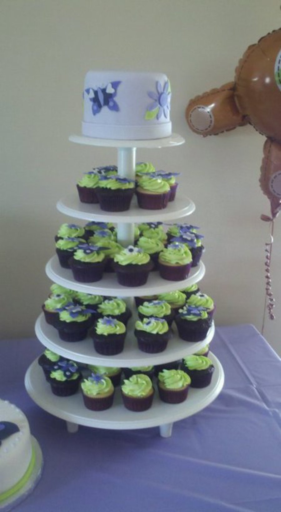 Cupcake Tower For A Baby Shower on Cake Central