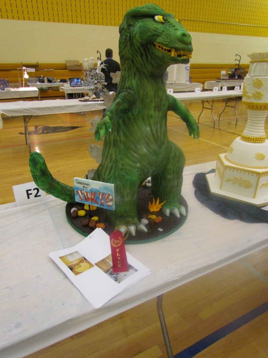 3D Godzilla on Cake Central