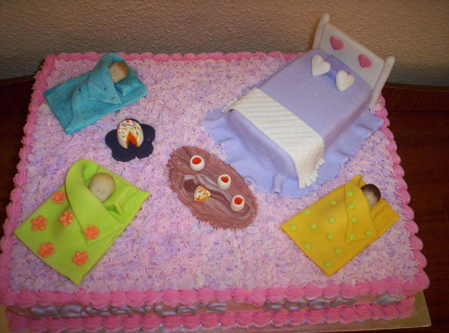 Amazing Sleepover Birthday Cake Cakecentral Com Funny Birthday Cards Online Inifodamsfinfo