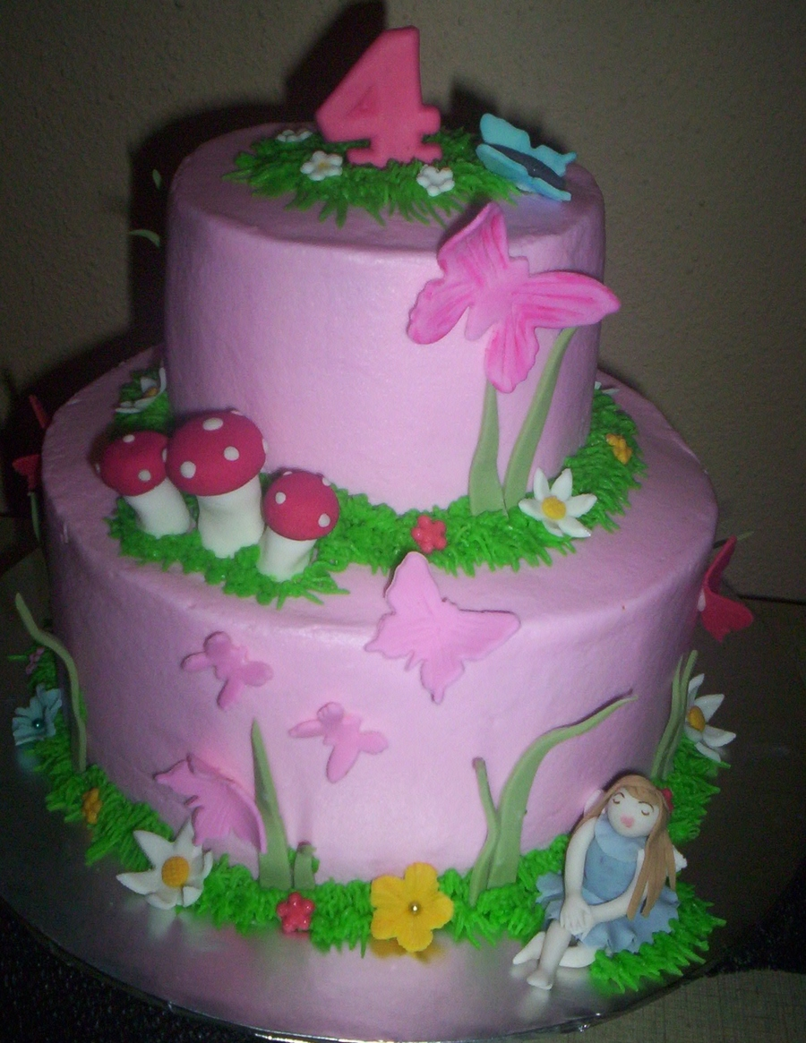 Sarah's Butterflies And Fairy on Cake Central