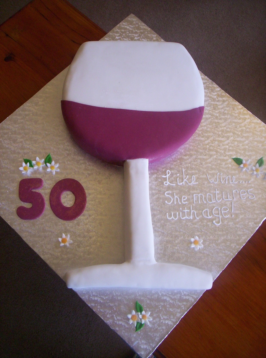 Wine Glass Birthday Cake on Cake Central