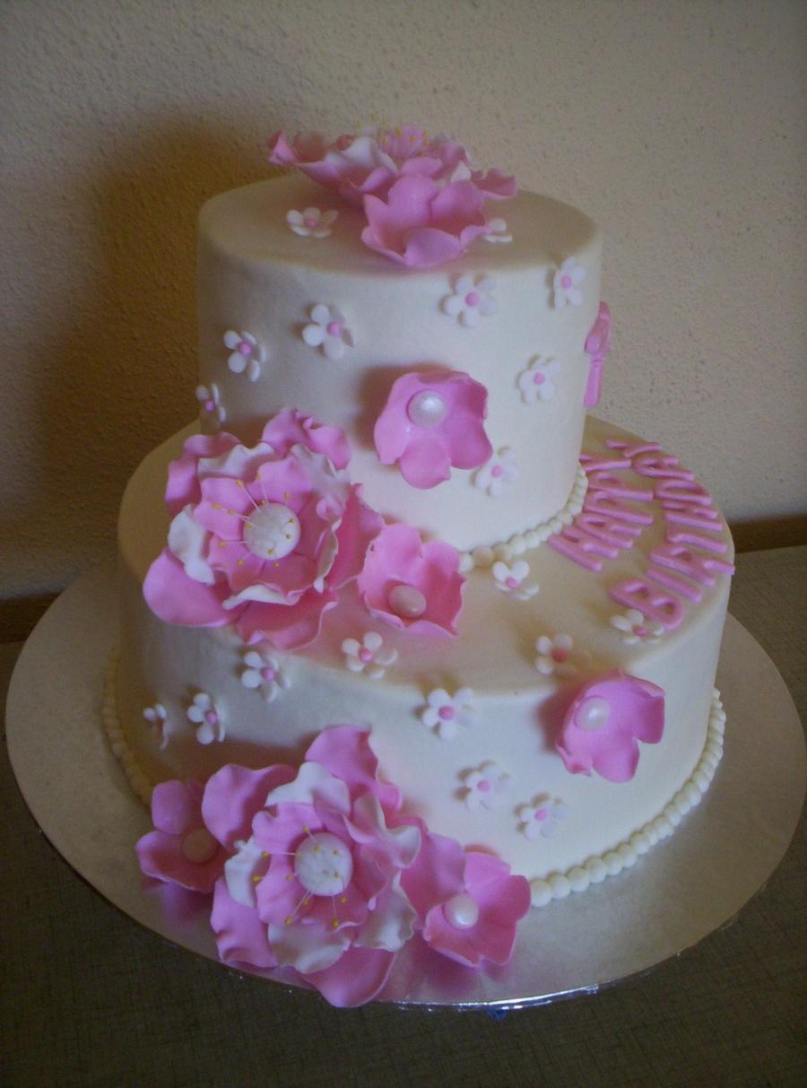 Pink 75Th Birthday Cake CakeCentralcom