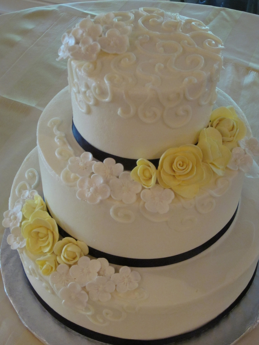 Yellow And Navy  on Cake Central