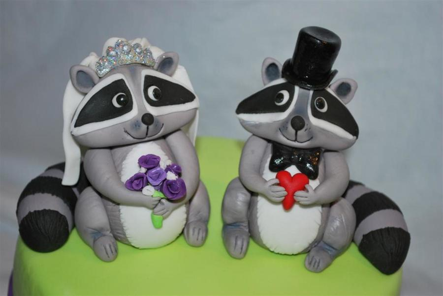 Raccoon Bride Amp Groom Cake Topper on Cake Central