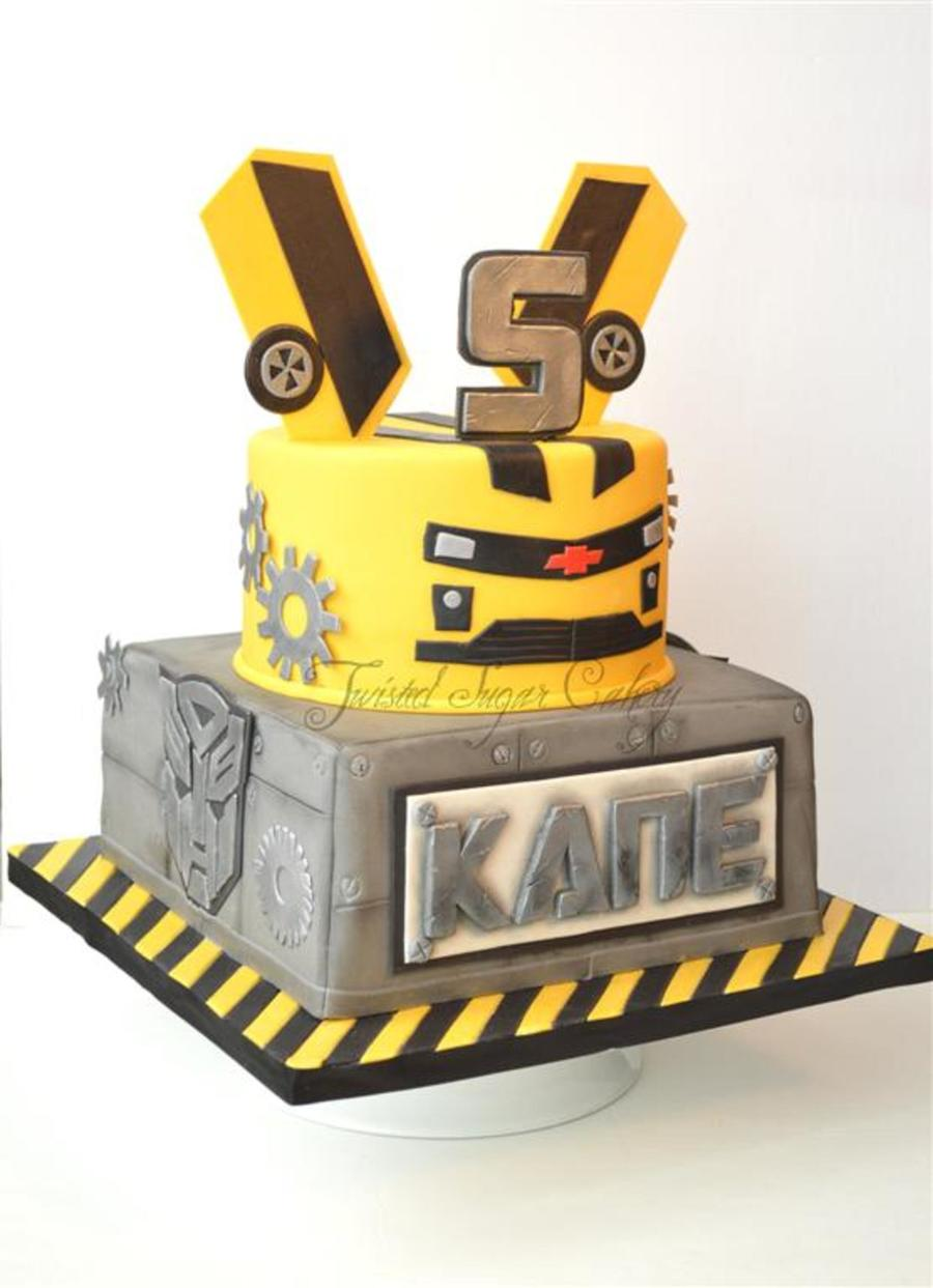 Transformer Bumblebee Cake Design