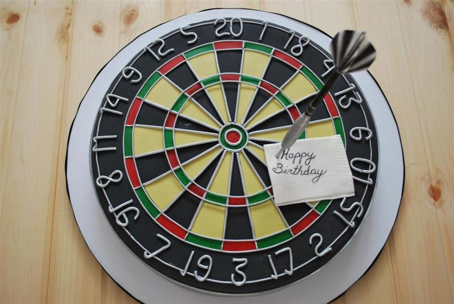 How To Make A Dart Board Birthday Cake