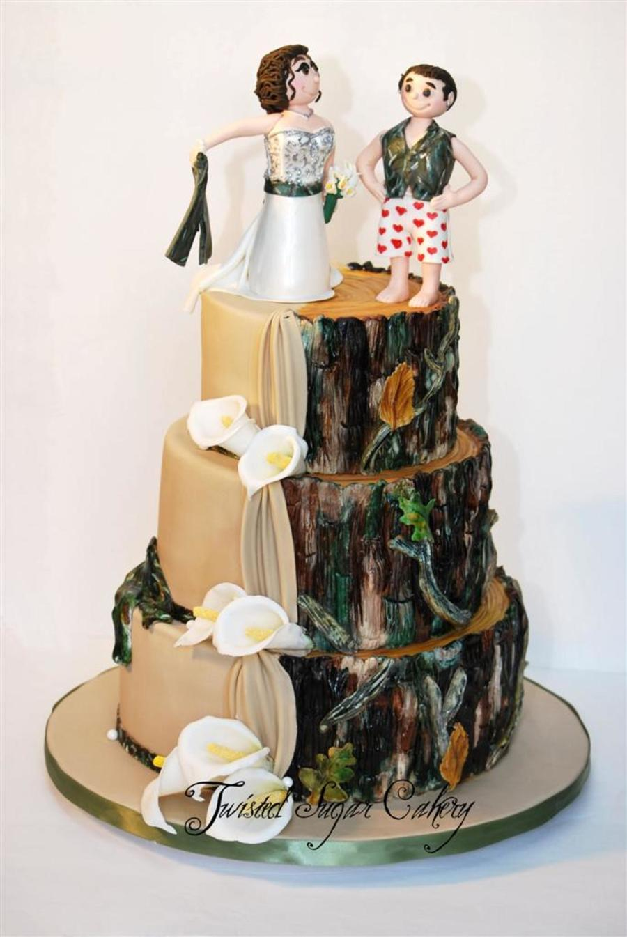 Duel Wedding Cake on Cake Central