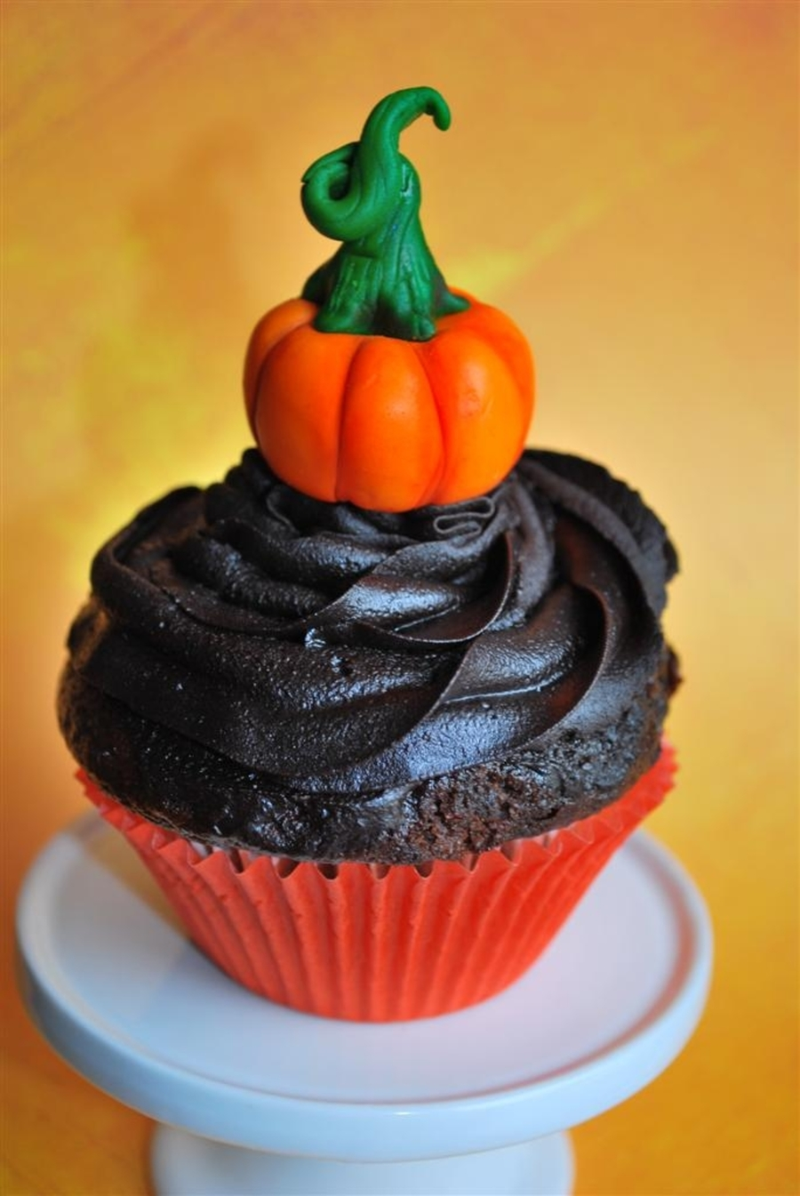 Pumpkin On A Cupcake on Cake Central