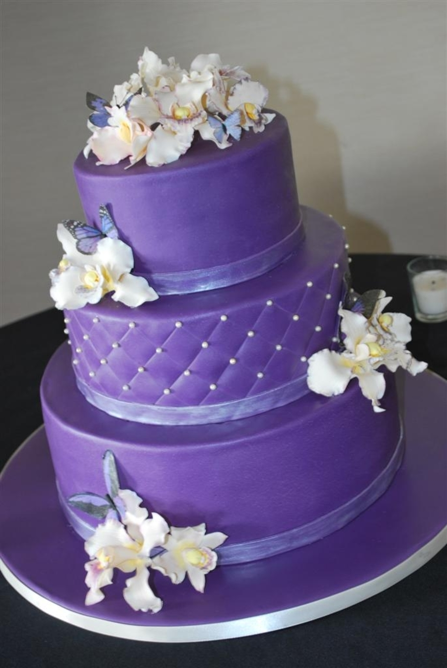 Orchids On Purple on Cake Central