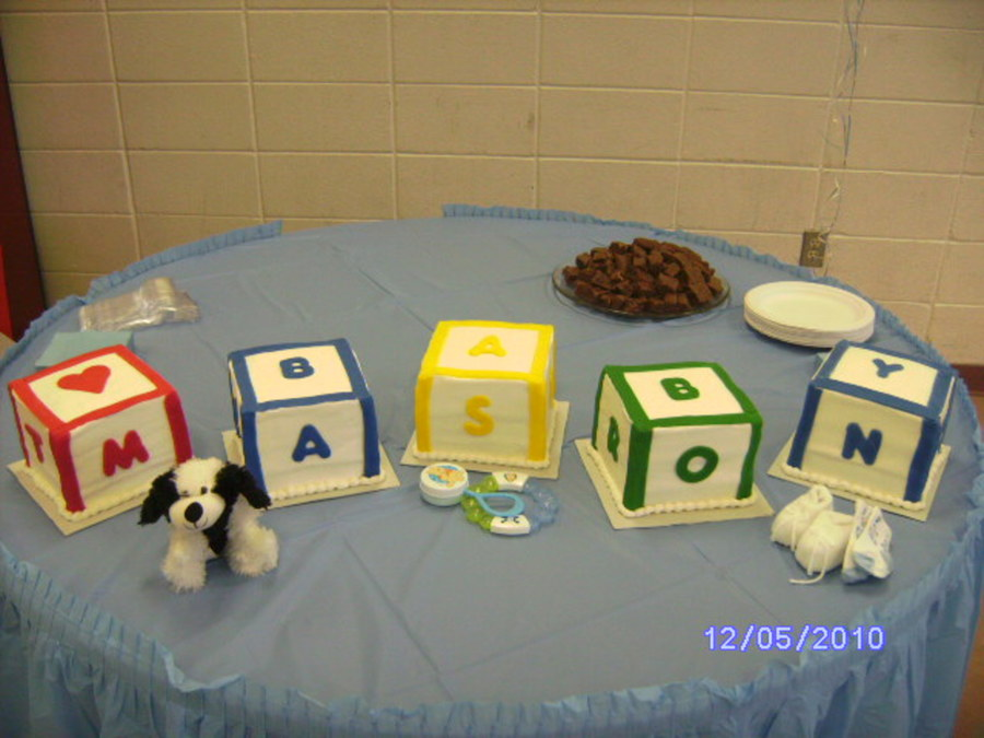 Mason's Baby Shower on Cake Central