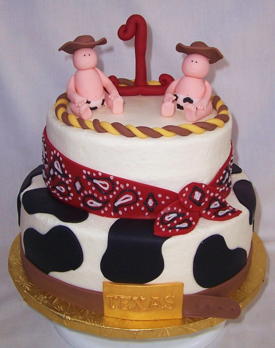 St Birthday Cake For Twin Boy And Girl