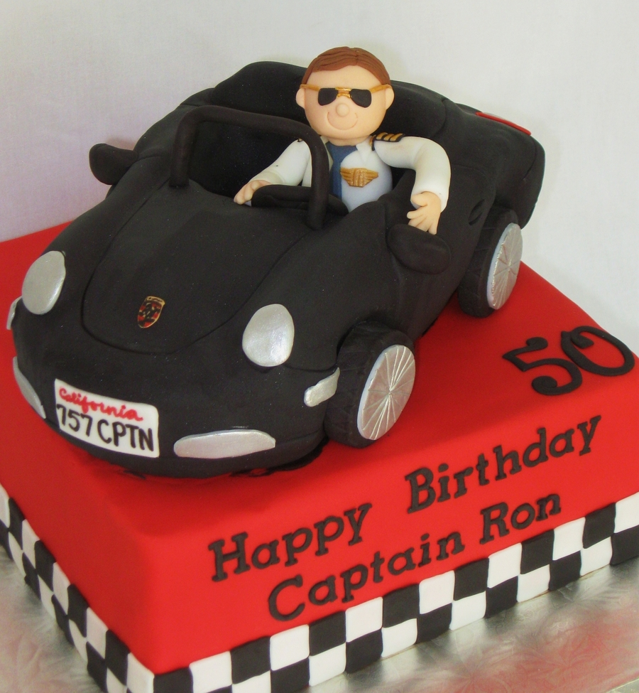 Airline Pilot In Porsche  on Cake Central