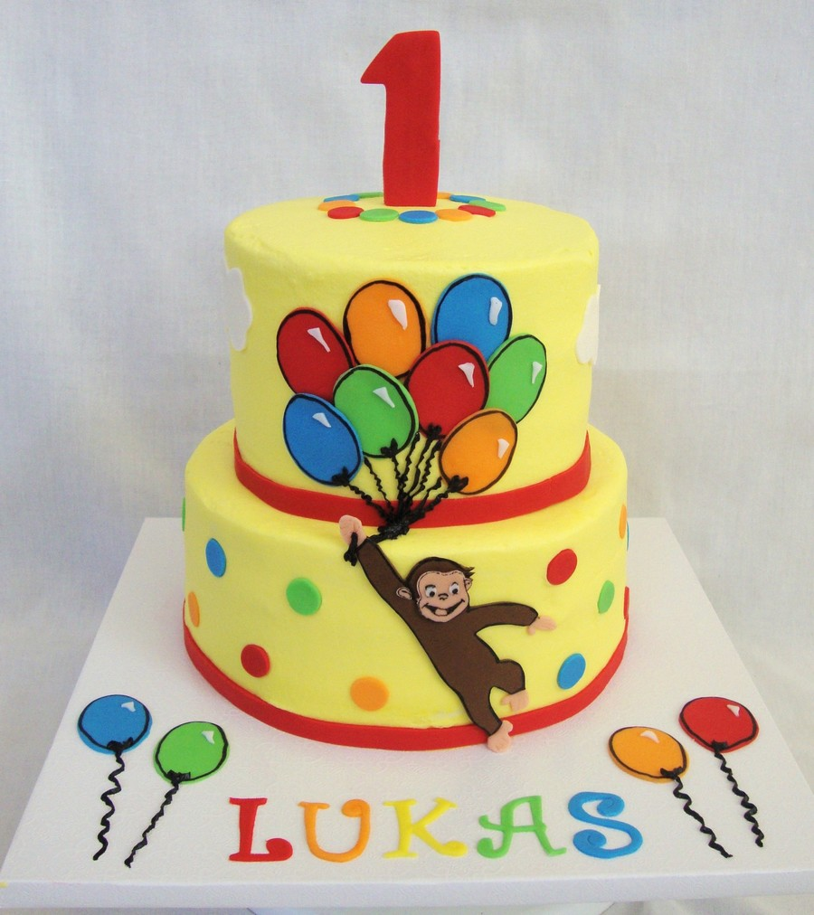 Pleasing Curious George Cake Cakecentral Com Personalised Birthday Cards Beptaeletsinfo
