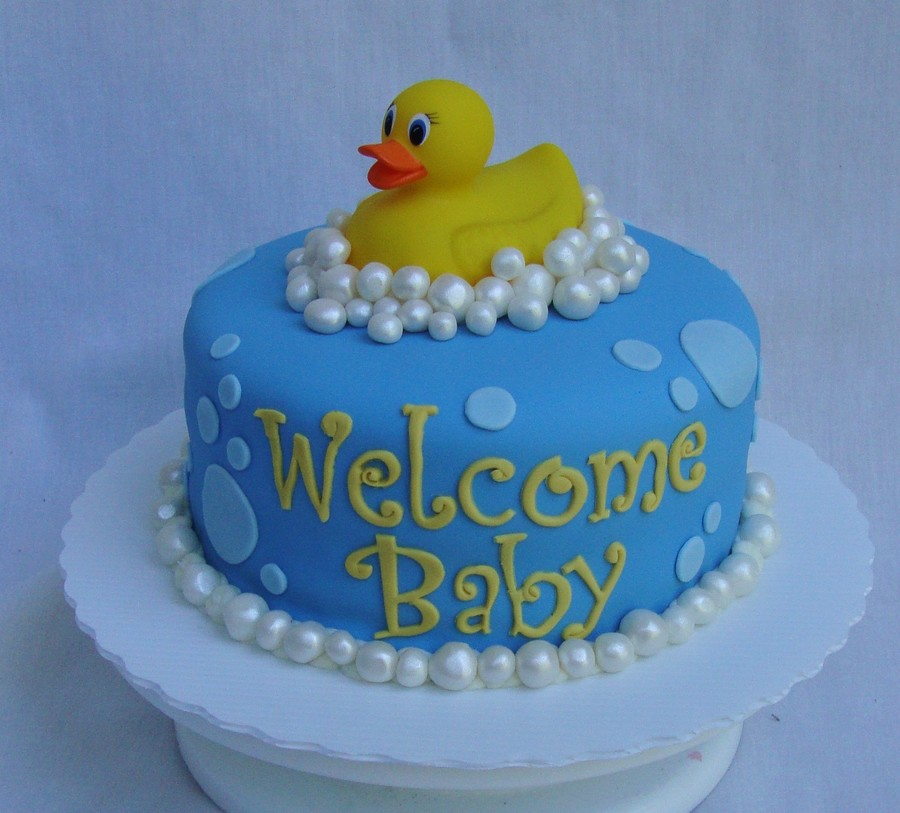Duck Baby Shower Cake