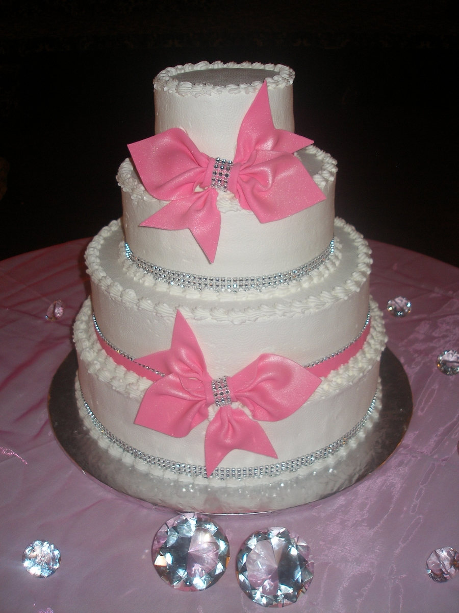 Pink & Bling  on Cake Central