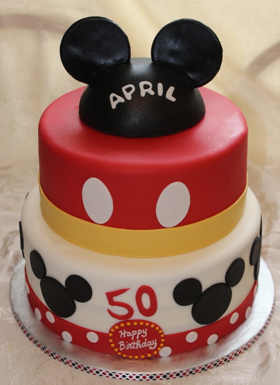 Peachy Mickey Mouse Theme 50Th Birthday Cakecentral Com Personalised Birthday Cards Paralily Jamesorg