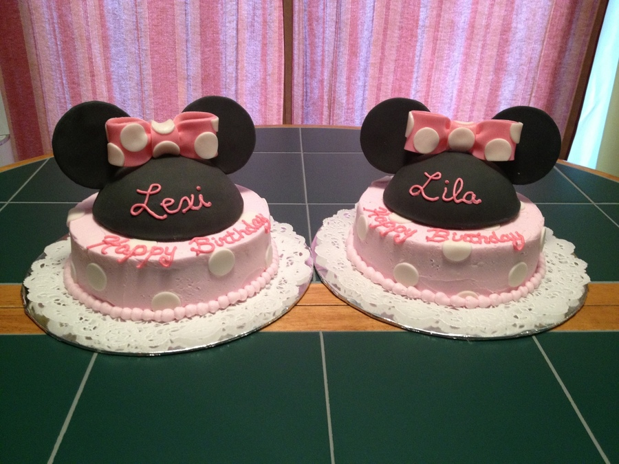 Minnie Birthday Cakes For 3 Year Old Twins On Cake Central