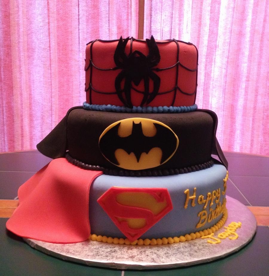 Magnificent Superheros Cakecentral Com Funny Birthday Cards Online Hetedamsfinfo