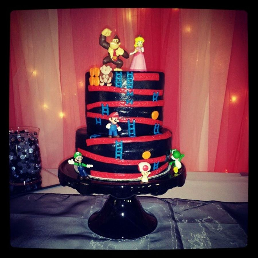 Donkey Kong For The Groom on Cake Central