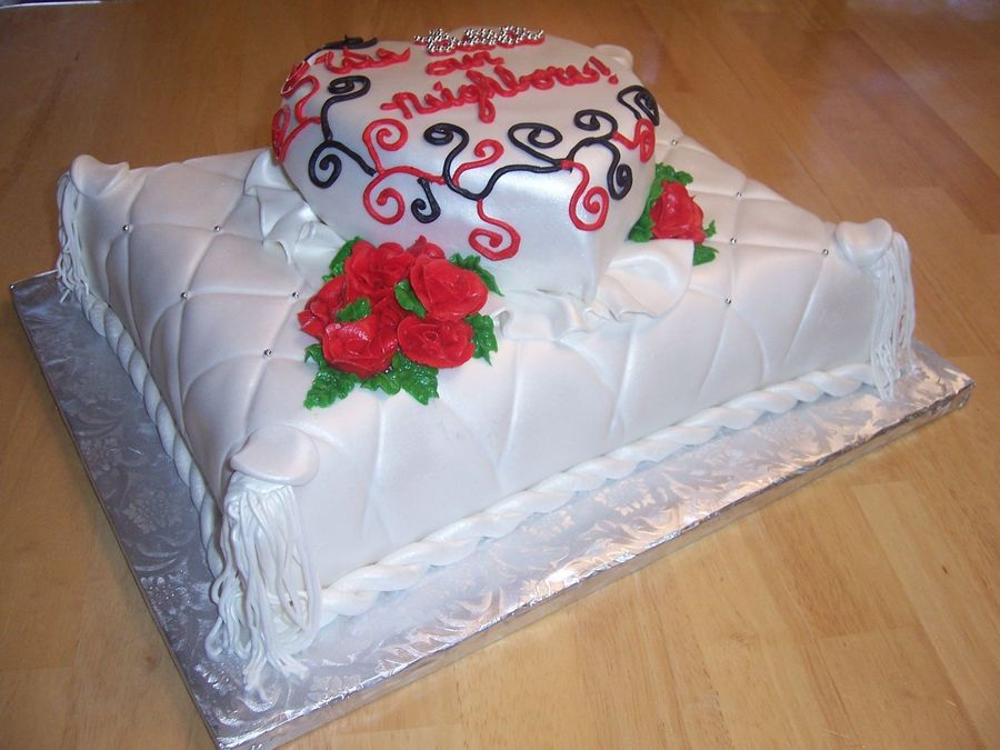 Romantic Pillow on Cake Central